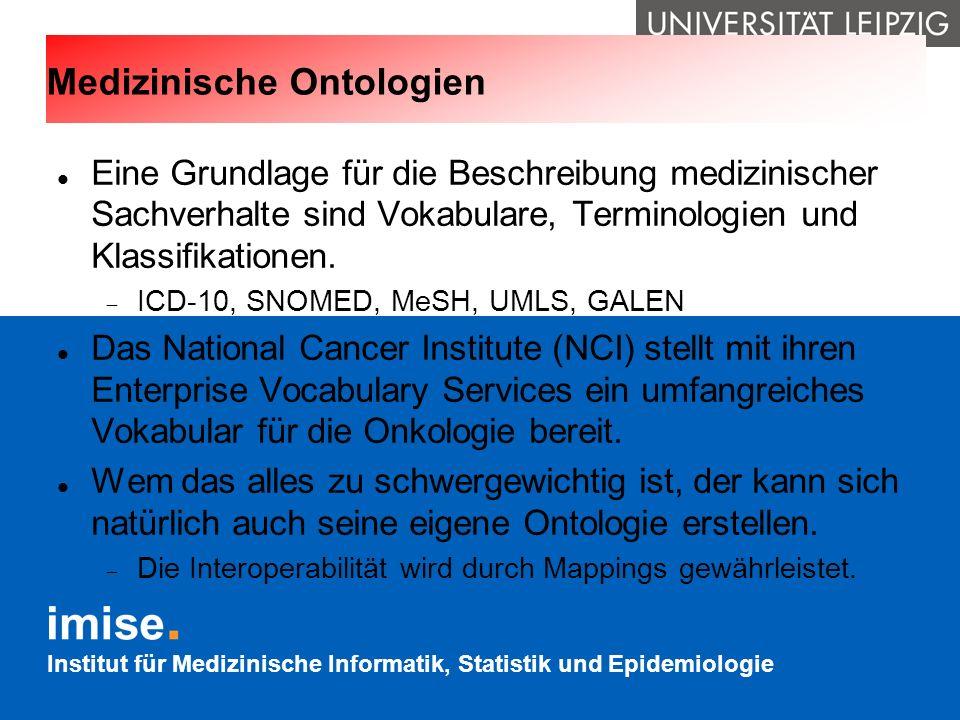 Medizinische Ontologien