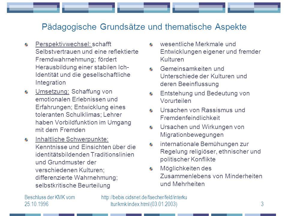 Pädagogische Grundsätze und thematische Aspekte