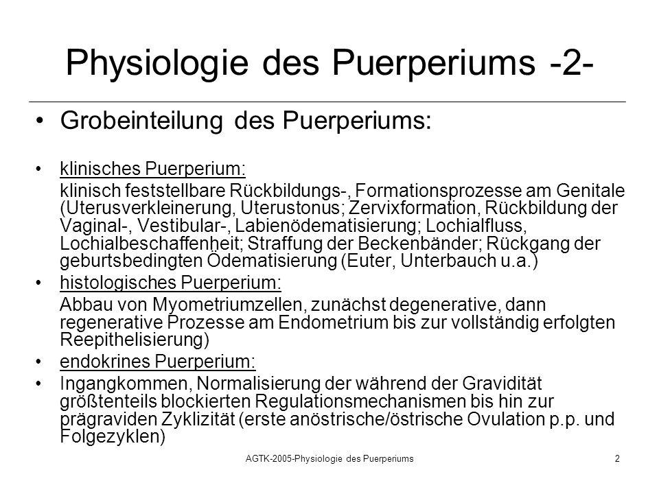 Physiologie des Puerperiums -2-