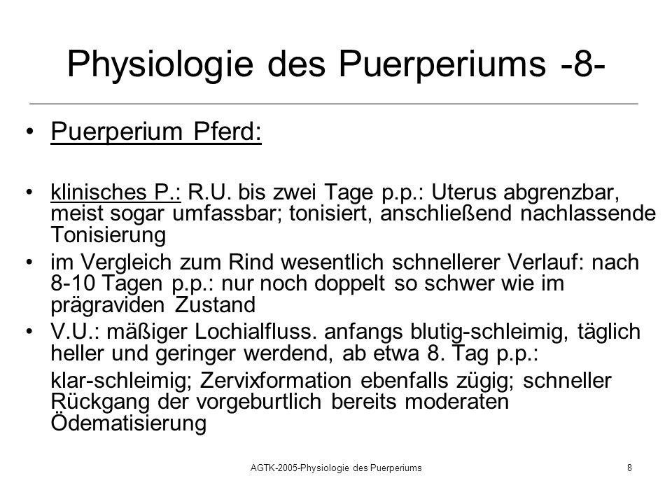 Physiologie des Puerperiums -8-