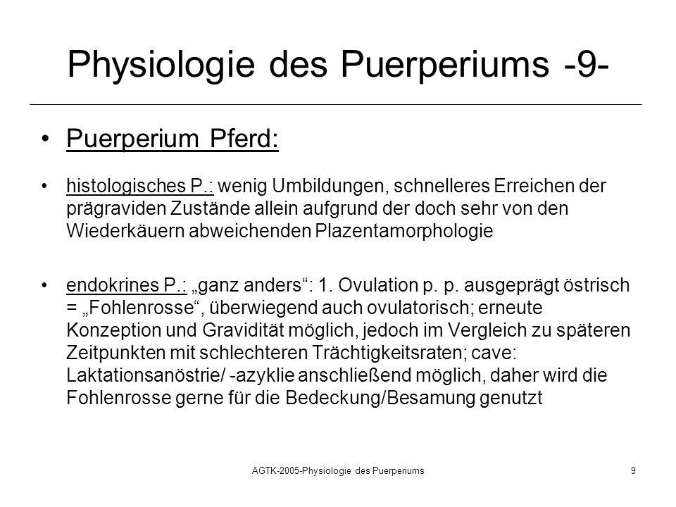 Physiologie des Puerperiums -9-