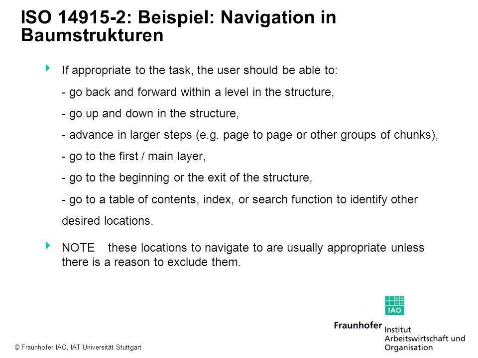 ISO 14915-2: Beispiel: Navigation in Baumstrukturen