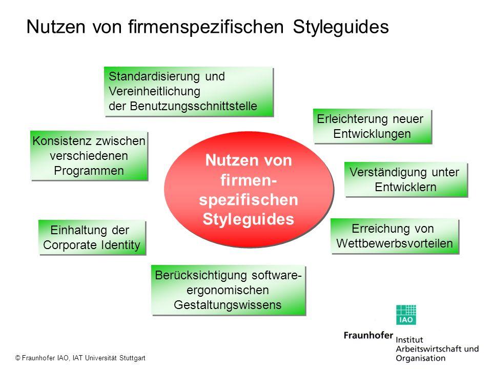 Nutzen von firmenspezifischen Styleguides