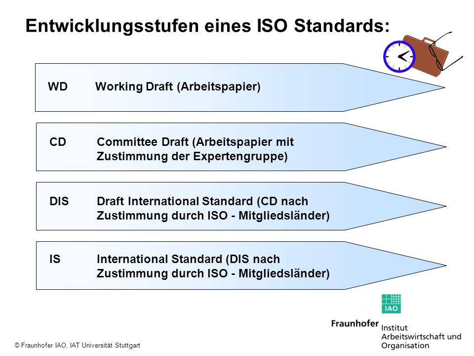 Entwicklungsstufen eines ISO Standards: