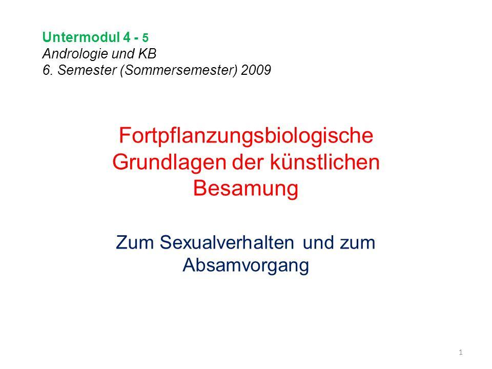 Untermodul 4 - 5 Andrologie und KB 6. Semester (Sommersemester) 2009
