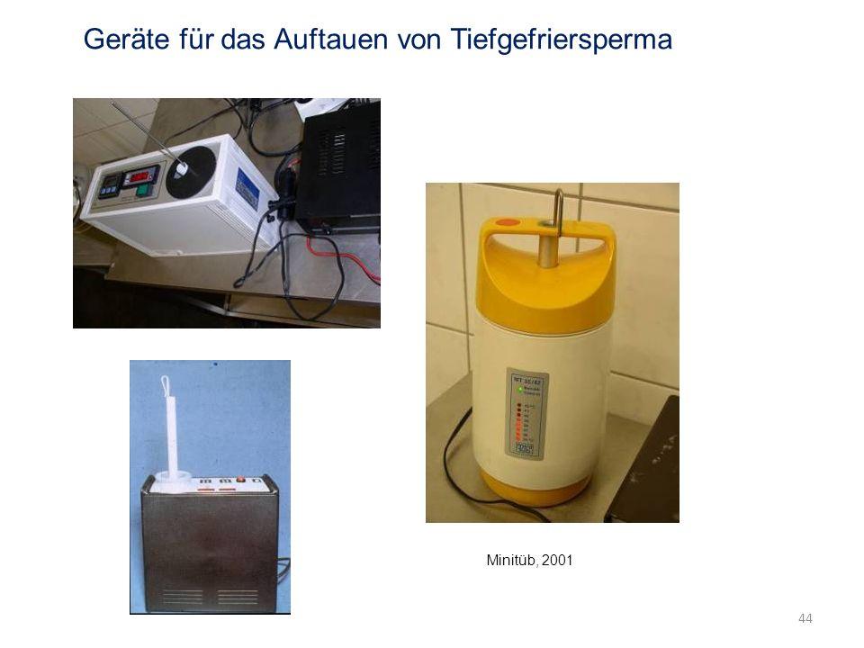 Geräte für das Auftauen von Tiefgefriersperma