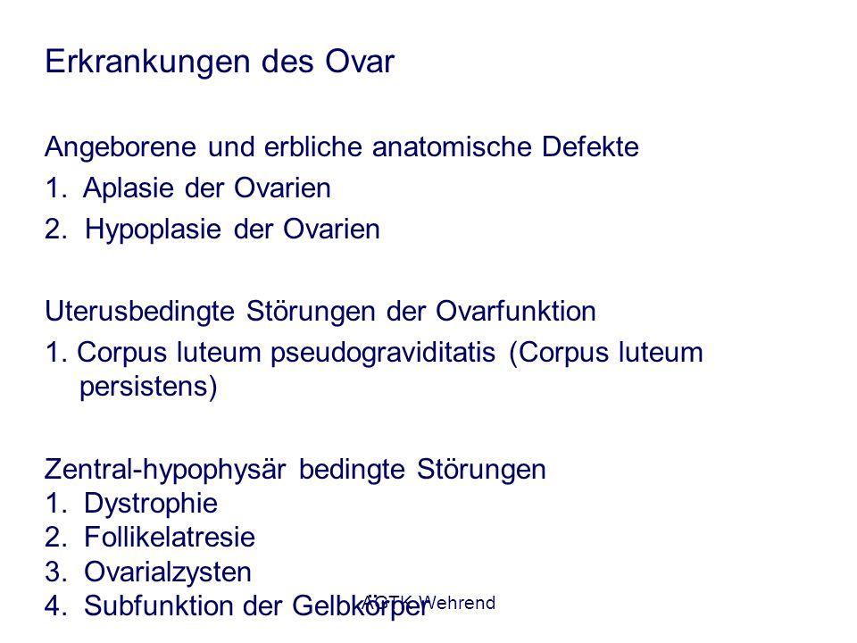 Erkrankungen des Ovar Angeborene und erbliche anatomische Defekte
