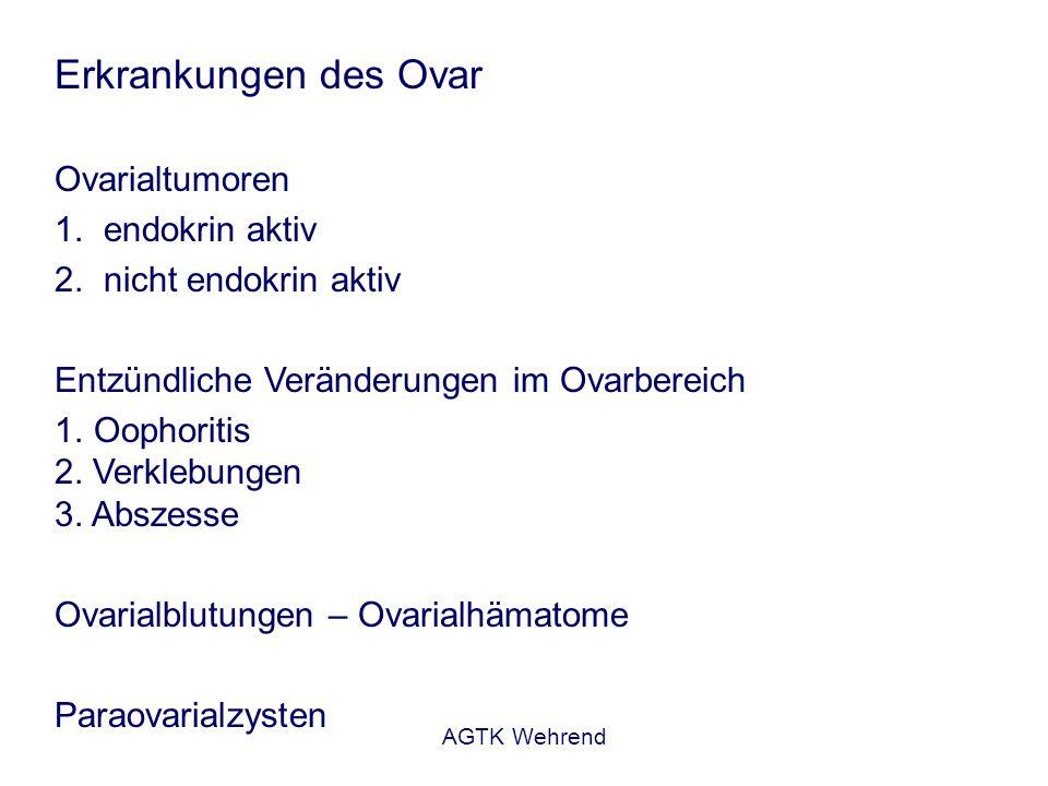 Erkrankungen des Ovar Ovarialtumoren endokrin aktiv