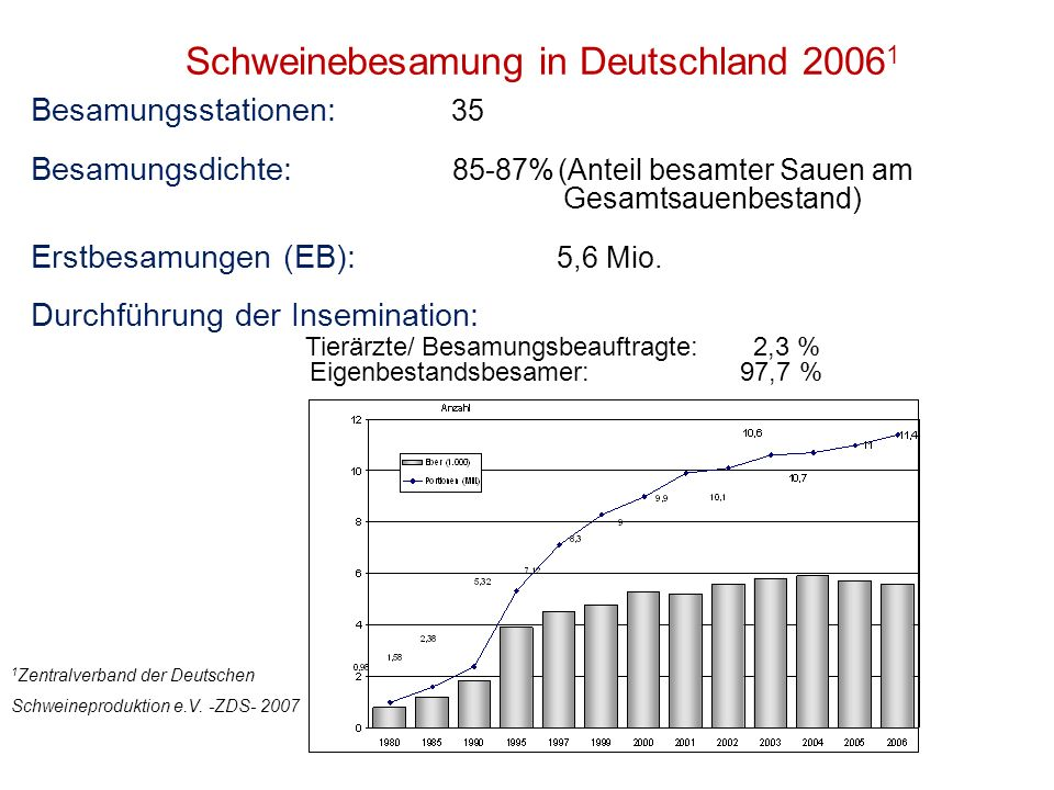 Schweinebesamung in Deutschland 20061