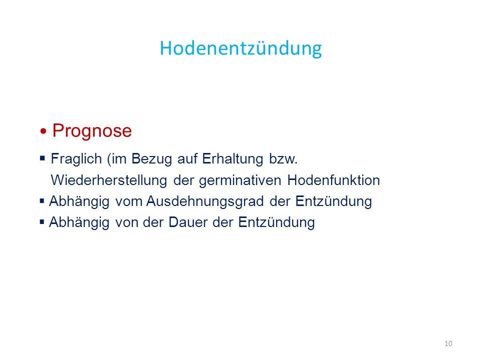 Hodenentzündung Prognose Fraglich (im Bezug auf Erhaltung bzw.