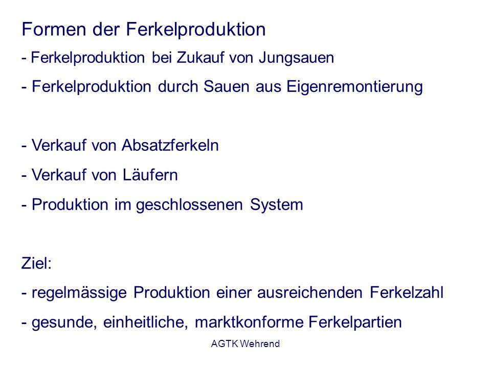 Formen der Ferkelproduktion