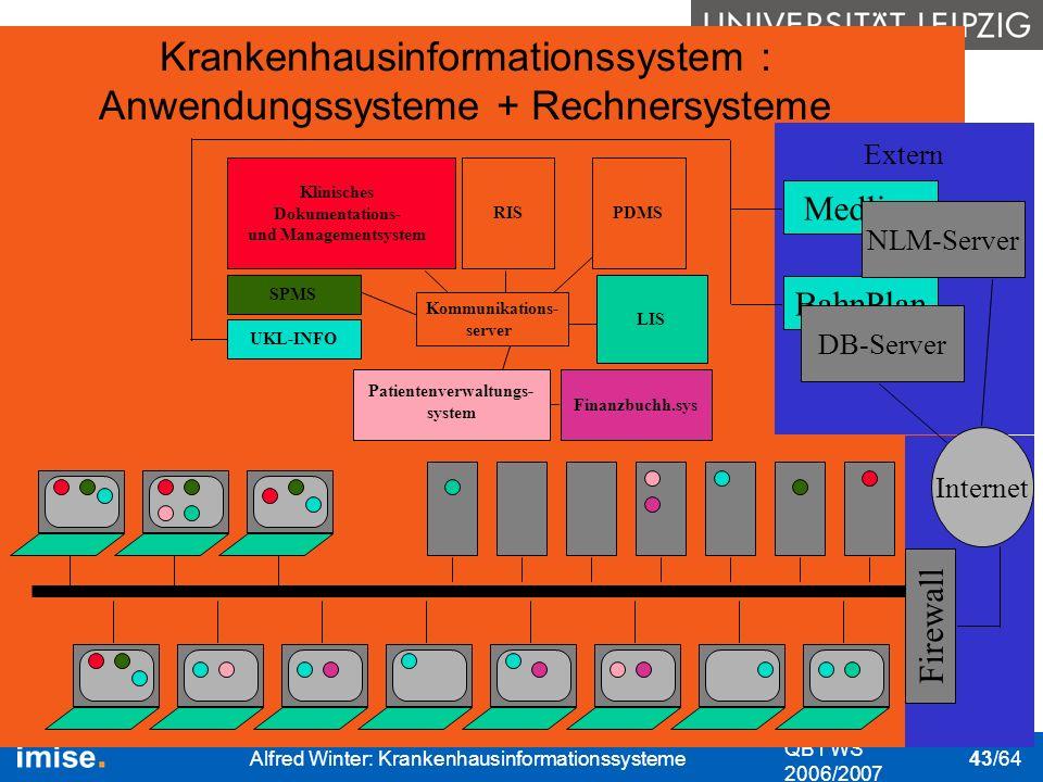 Krankenhausinformationssystem : Anwendungssysteme + Rechnersysteme