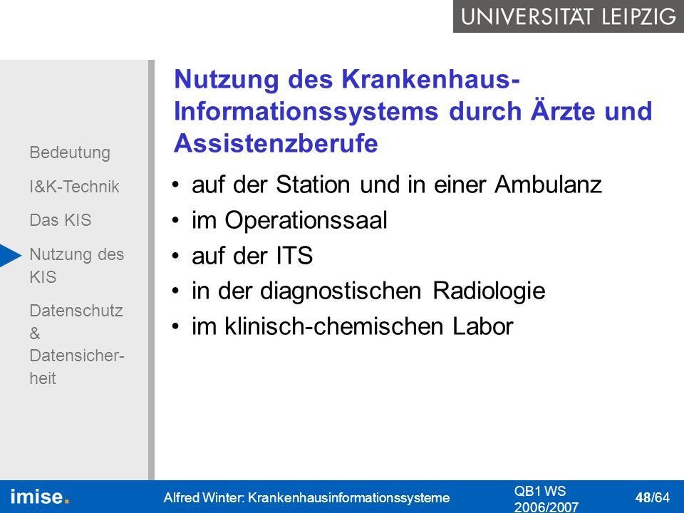 Nutzung des Krankenhaus-Informationssystems durch Ärzte und Assistenzberufe