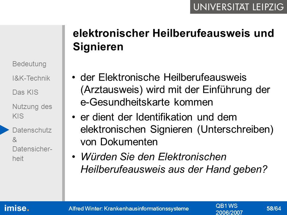 elektronischer Heilberufeausweis und Signieren