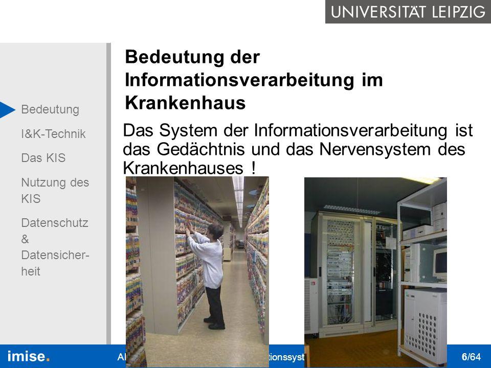 Bedeutung der Informationsverarbeitung im Krankenhaus
