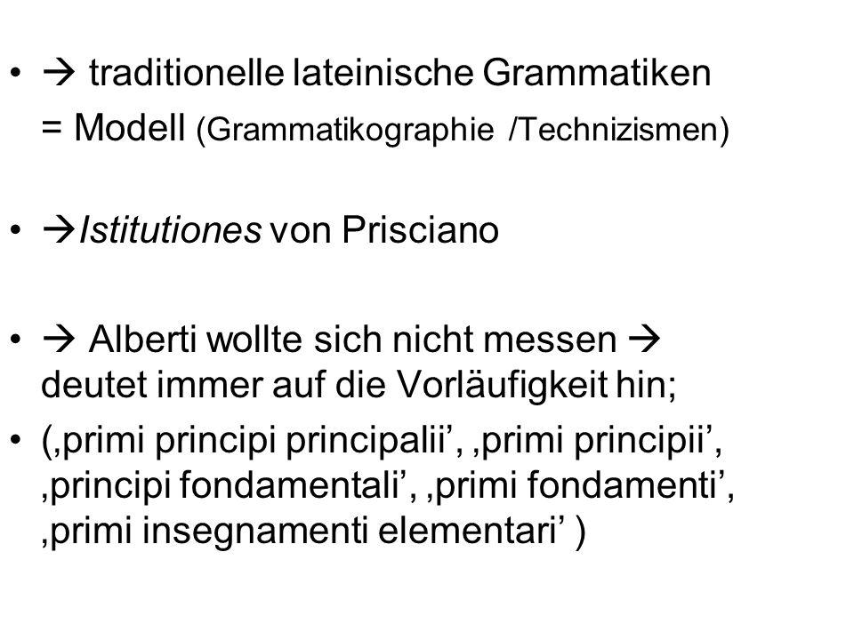  traditionelle lateinische Grammatiken