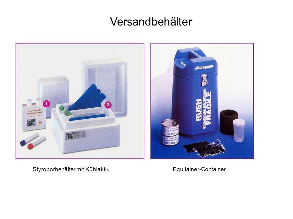 Versandbehälter Styroporbehälter mit Kühlakku Equitainer-Container