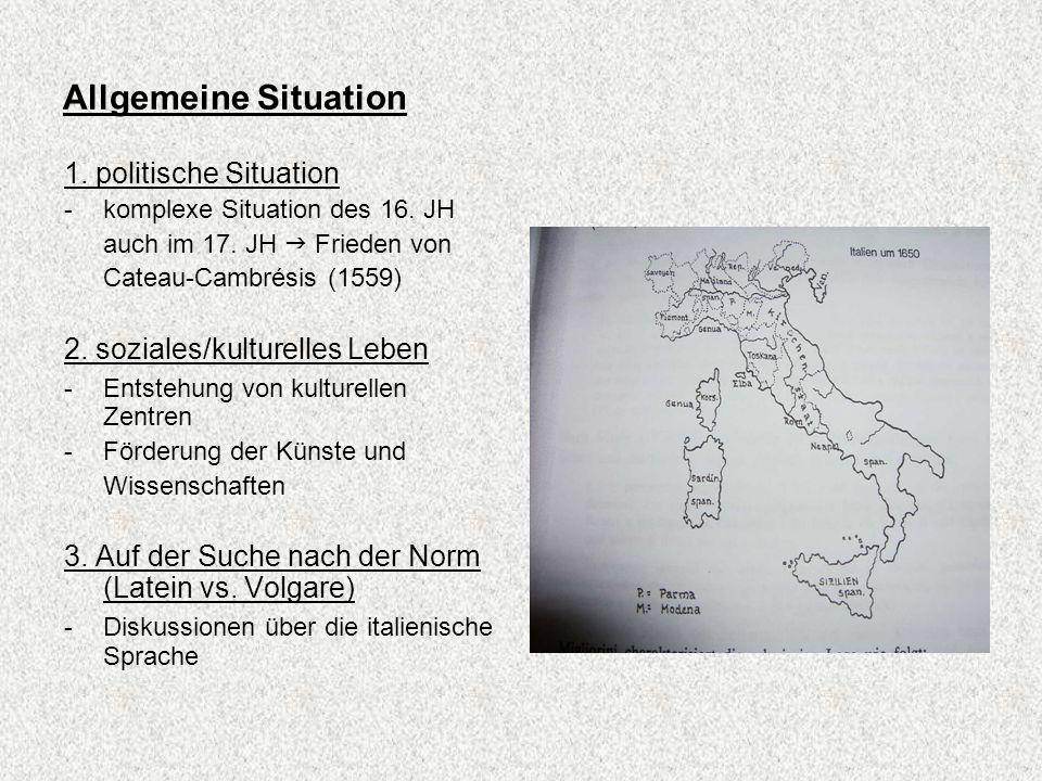 Allgemeine Situation 1. politische Situation