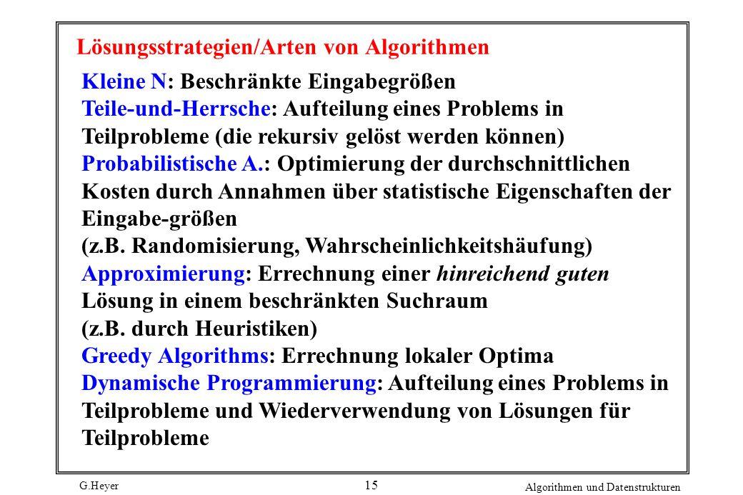 Lösungsstrategien/Arten von Algorithmen