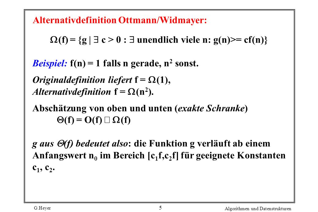Alternativdefinition Ottmann/Widmayer: