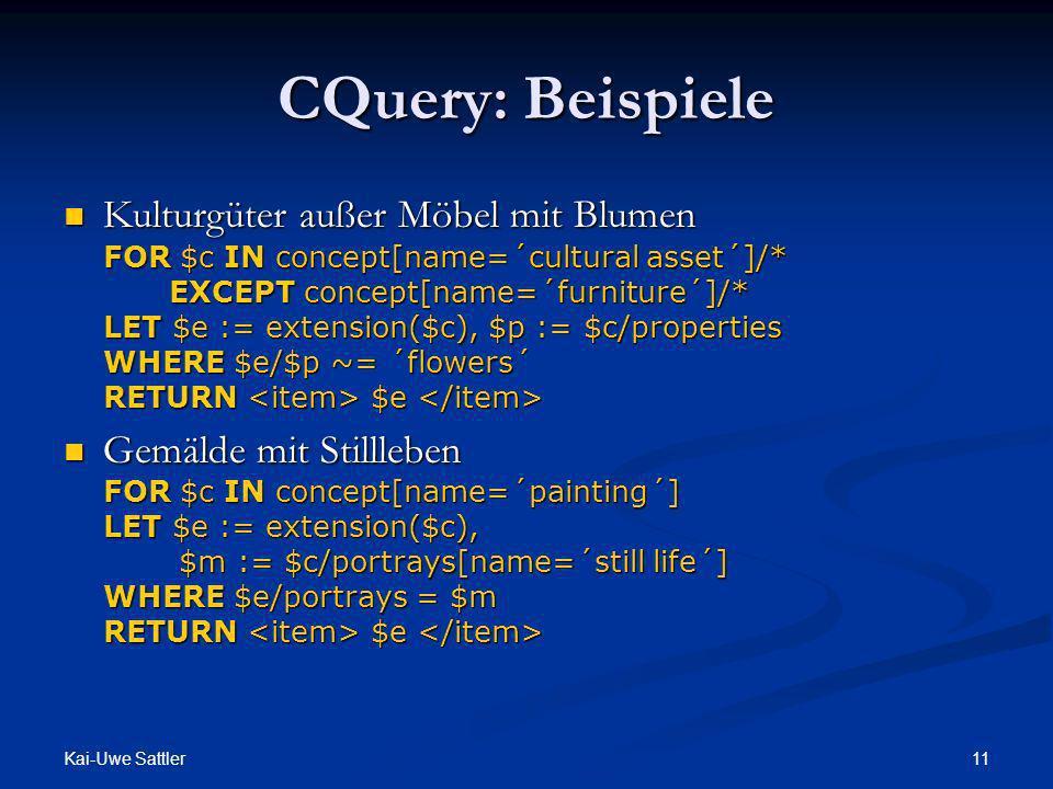 CQuery: Beispiele