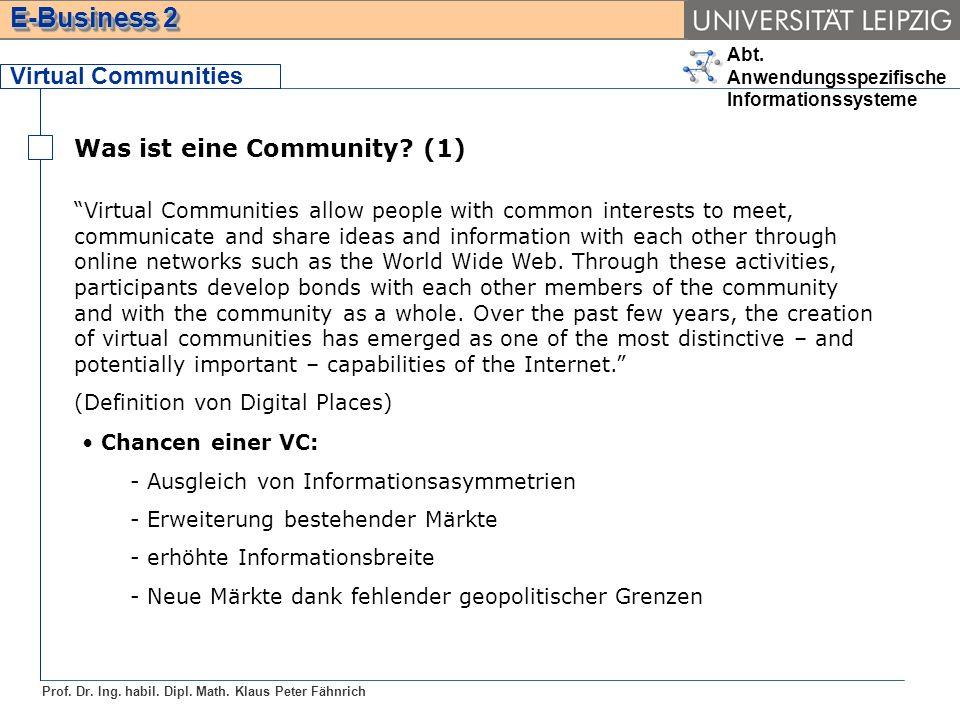 Was ist eine Community (1)