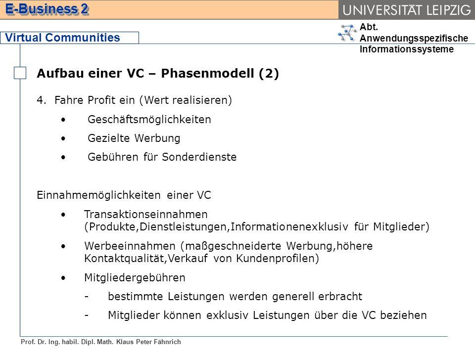 Aufbau einer VC – Phasenmodell (2)