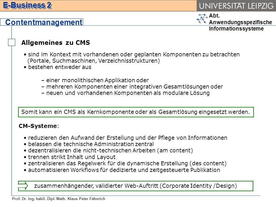 Contentmanagement Allgemeines zu CMS