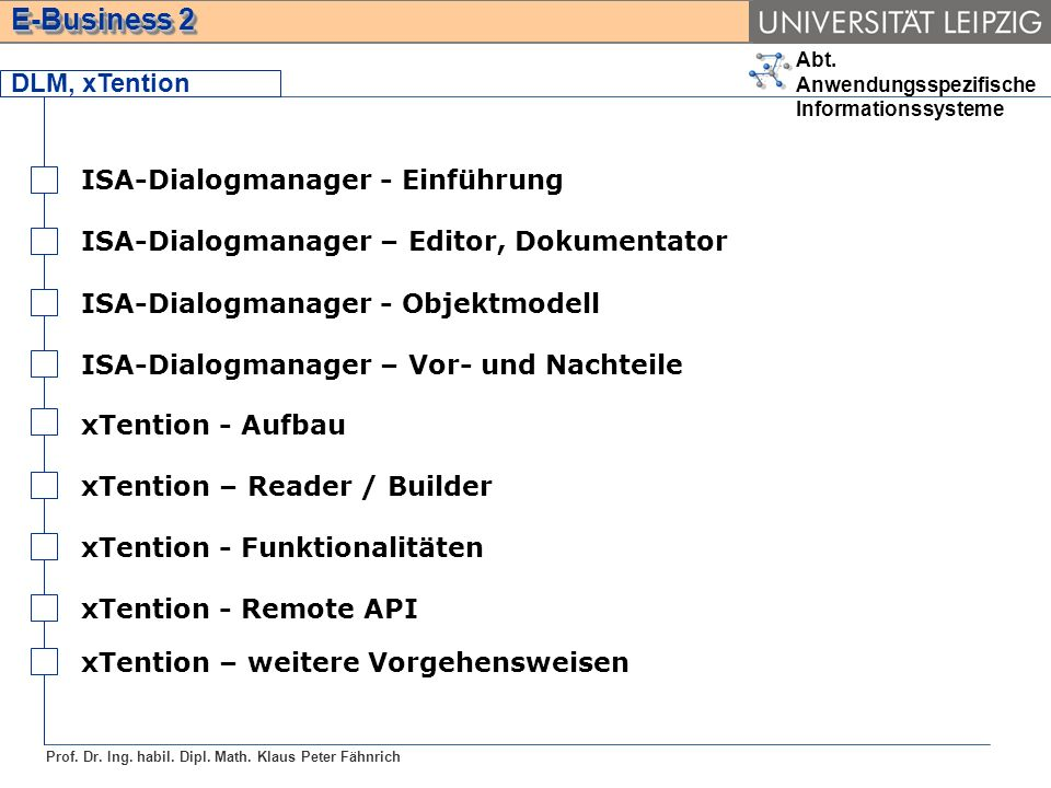 DLM, xTention ISA-Dialogmanager - Einführung. ISA-Dialogmanager – Editor, Dokumentator. ISA-Dialogmanager - Objektmodell.