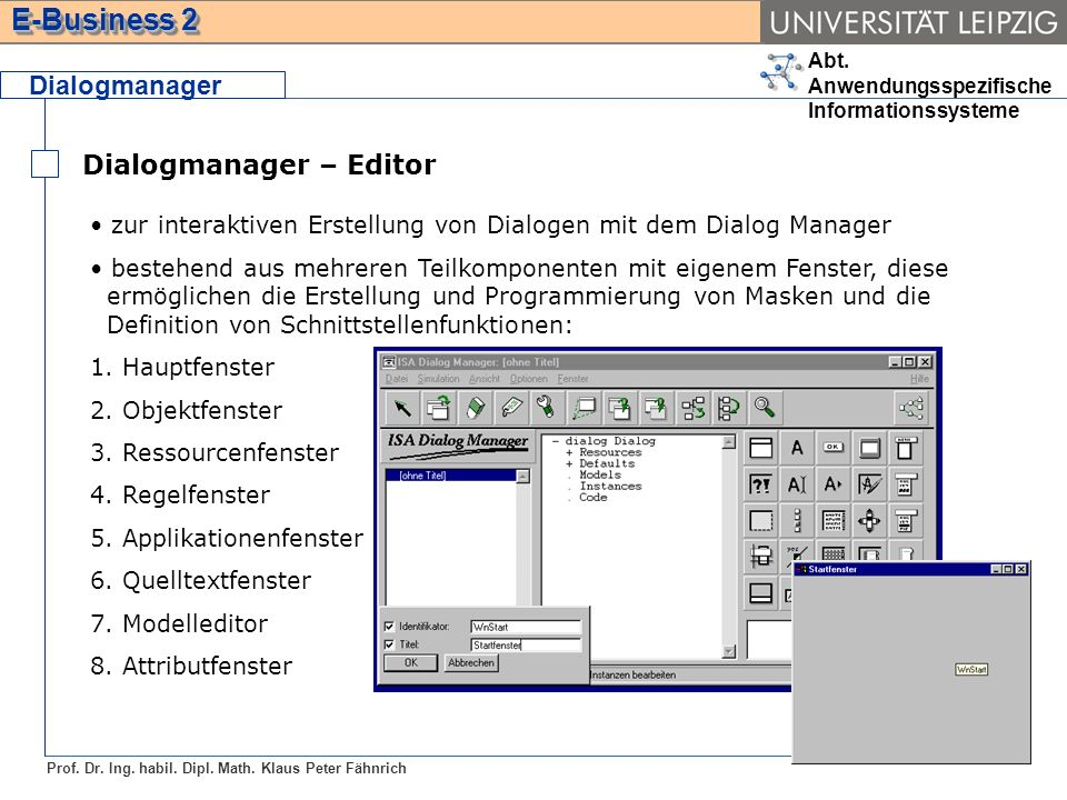 Dialogmanager – Editor