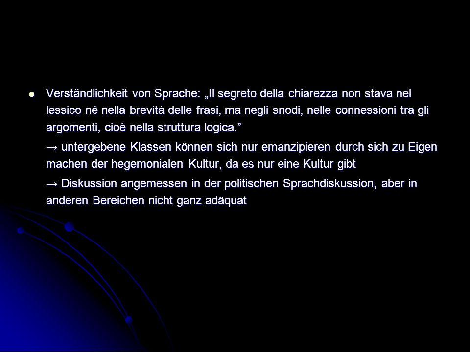 """Verständlichkeit von Sprache: """"Il segreto della chiarezza non stava nel lessico né nella brevità delle frasi, ma negli snodi, nelle connessioni tra gli argomenti, cioè nella struttura logica."""