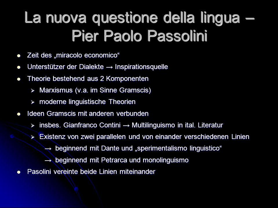 La nuova questione della lingua – Pier Paolo Passolini