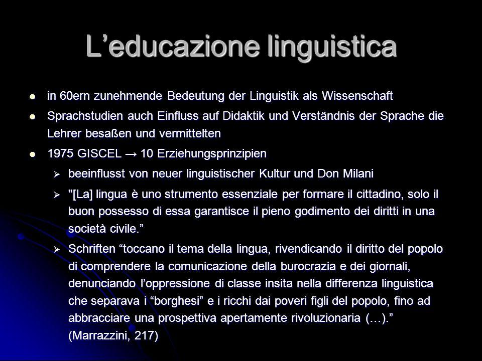 L'educazione linguistica
