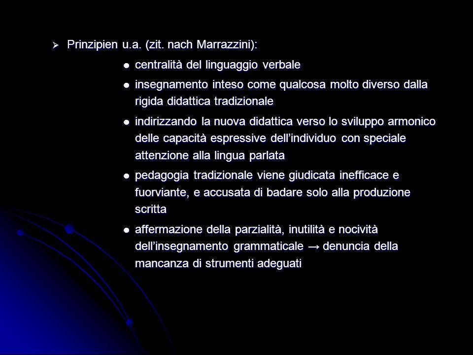 Prinzipien u.a. (zit. nach Marrazzini):