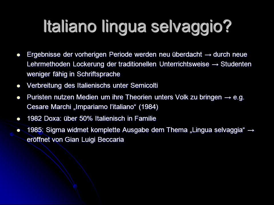 Italiano lingua selvaggio