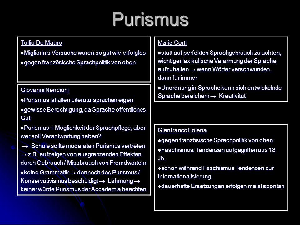 Purismus Tullio De Mauro