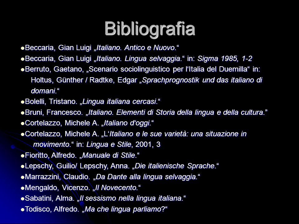 """Bibliografia Beccaria, Gian Luigi """"Italiano. Antico e Nuovo."""
