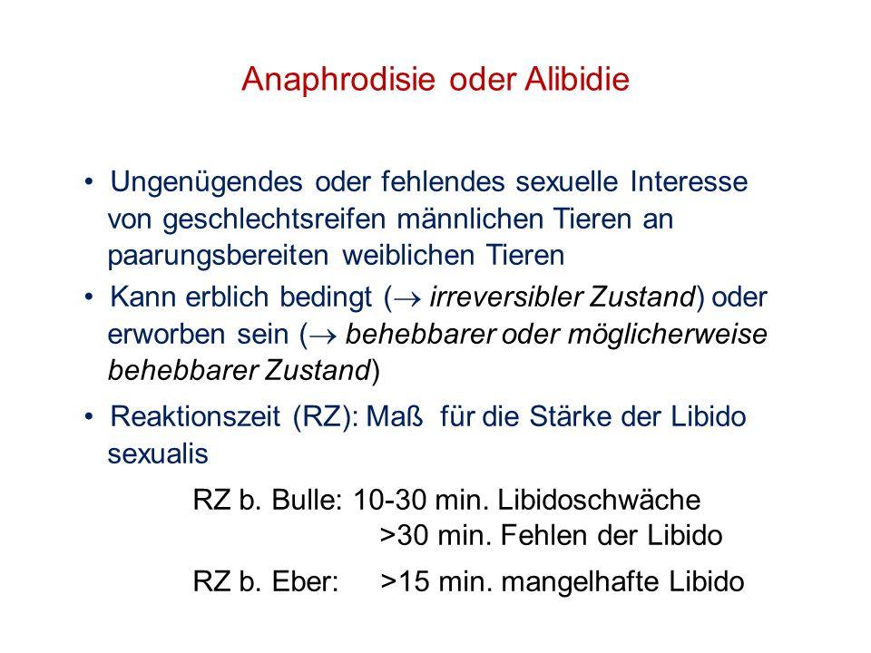 Anaphrodisie oder Alibidie