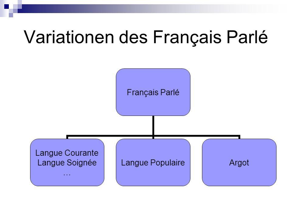 Variationen des Français Parlé