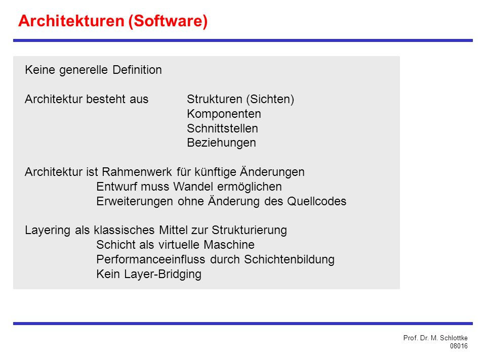 Architekturen (Software)