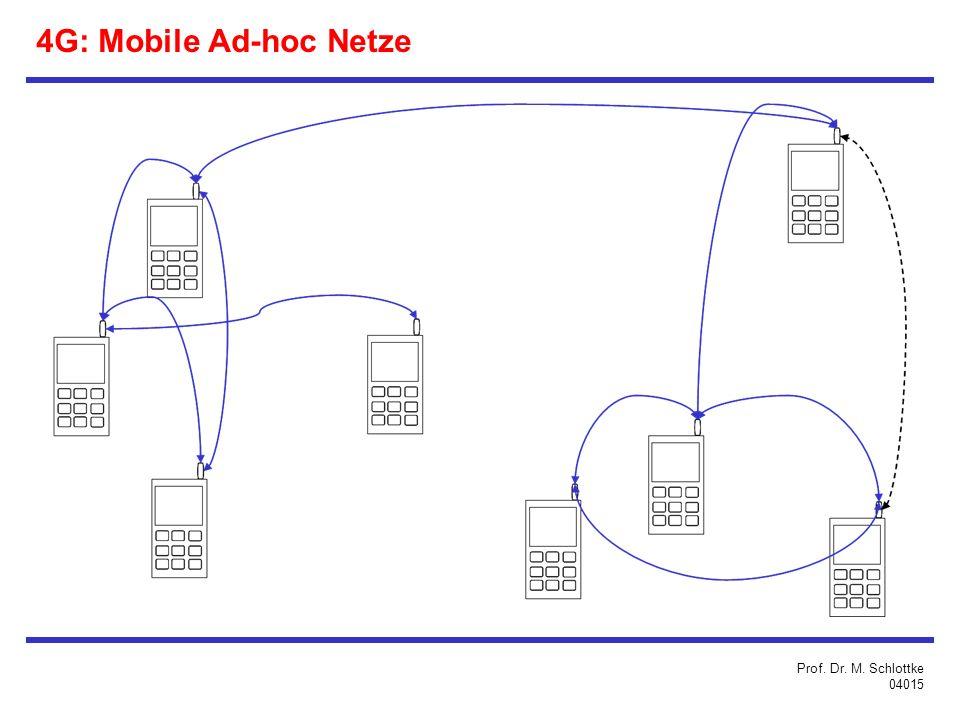 4G: Mobile Ad-hoc Netze Prof. Dr. M. Schlottke 04015