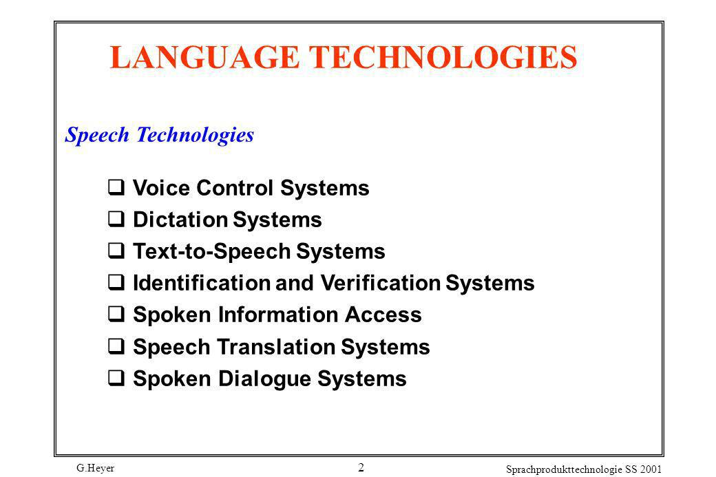 LANGUAGE TECHNOLOGIES