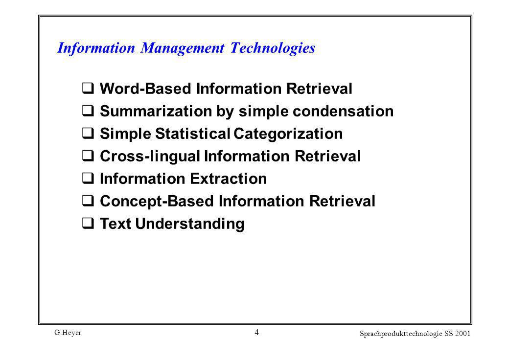 Information Management Technologies