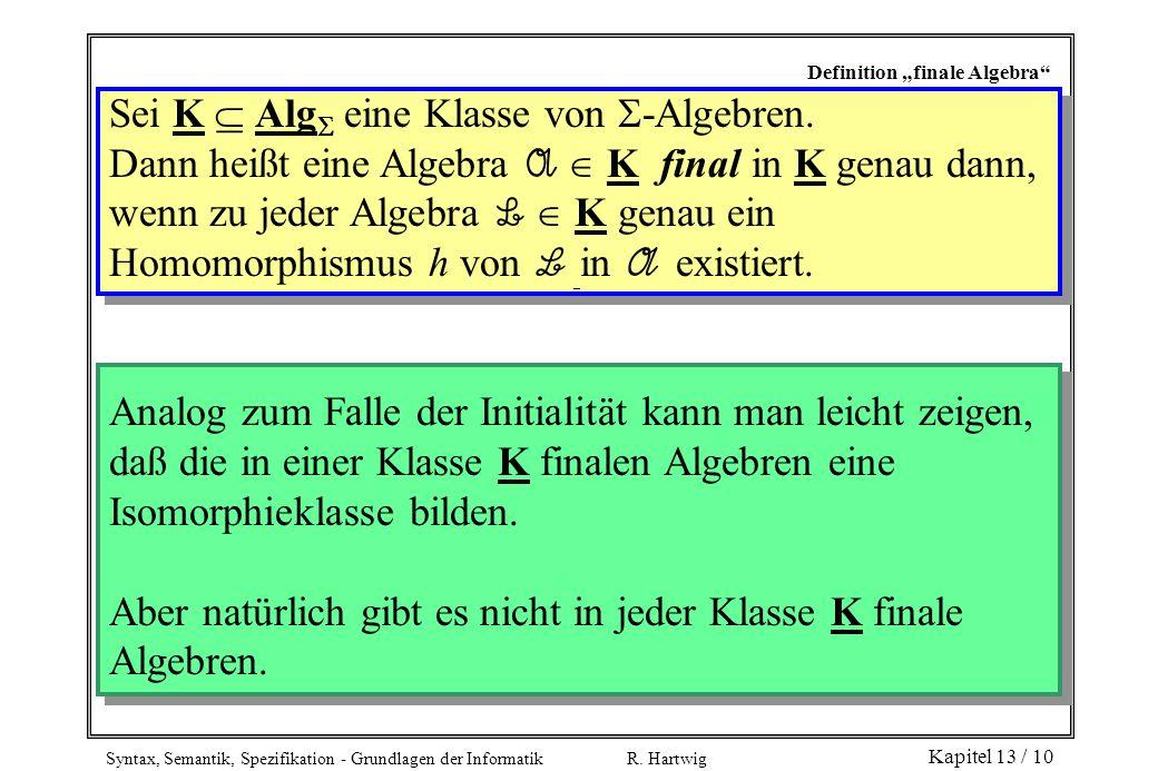 Sei K  Alg eine Klasse von -Algebren.