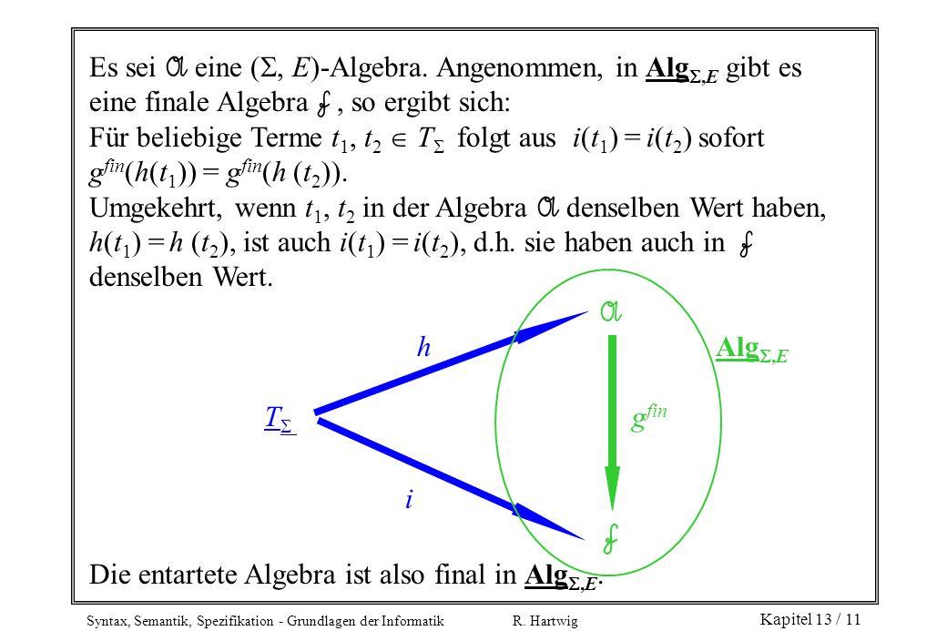 Es sei A eine (, E)-Algebra