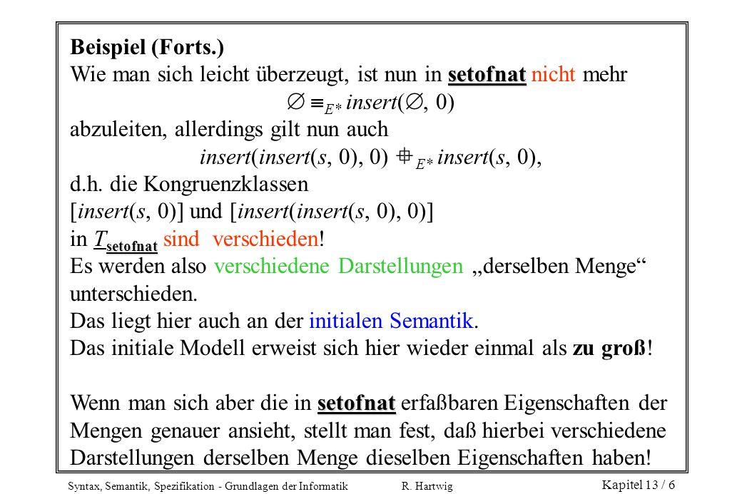 insert(insert(s, 0), 0) E* insert(s, 0),