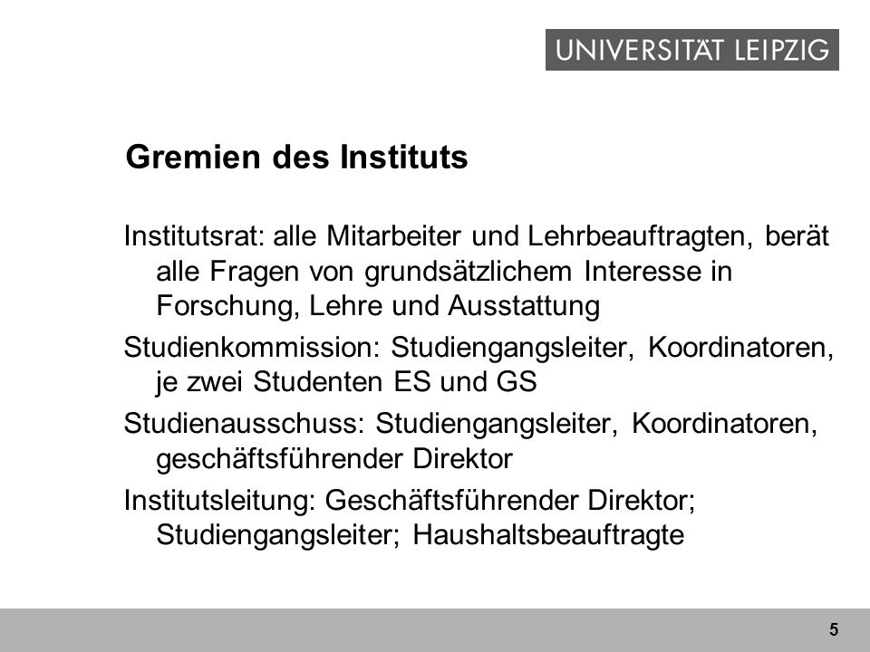 Gremien des Instituts