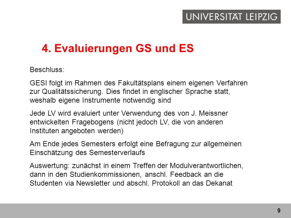4. Evaluierungen GS und ES