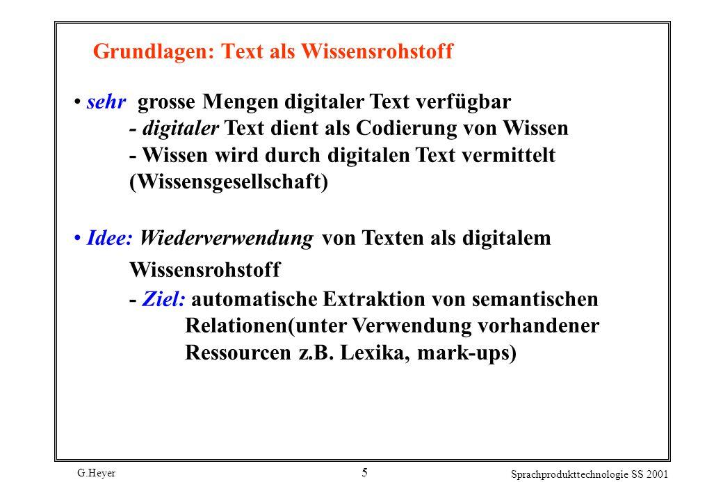 Grundlagen: Text als Wissensrohstoff