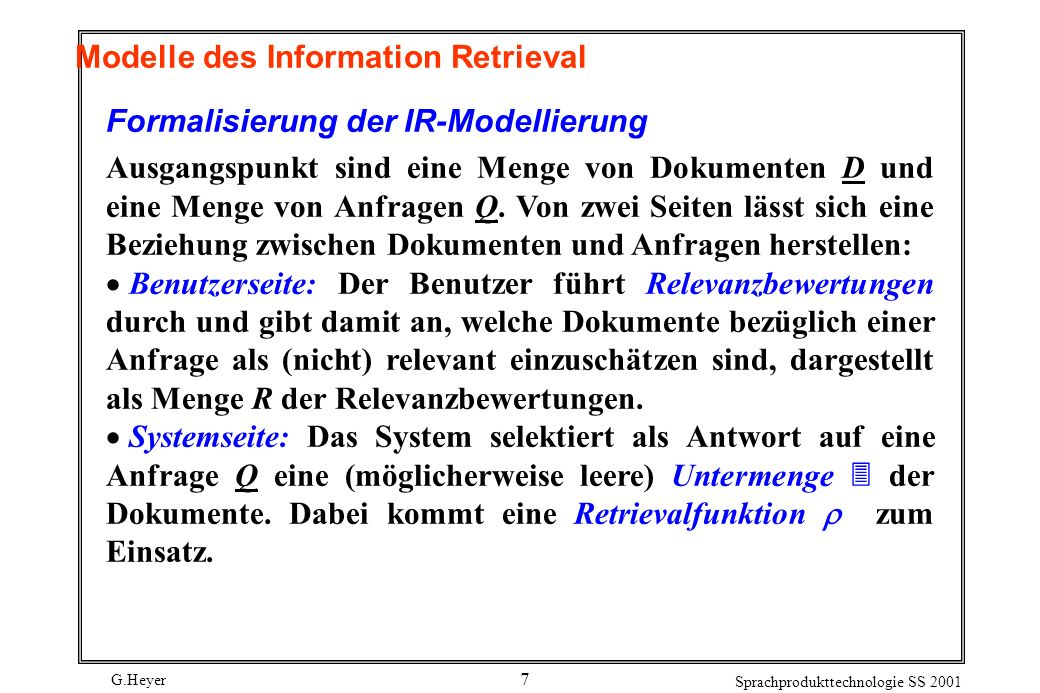 Modelle des Information Retrieval